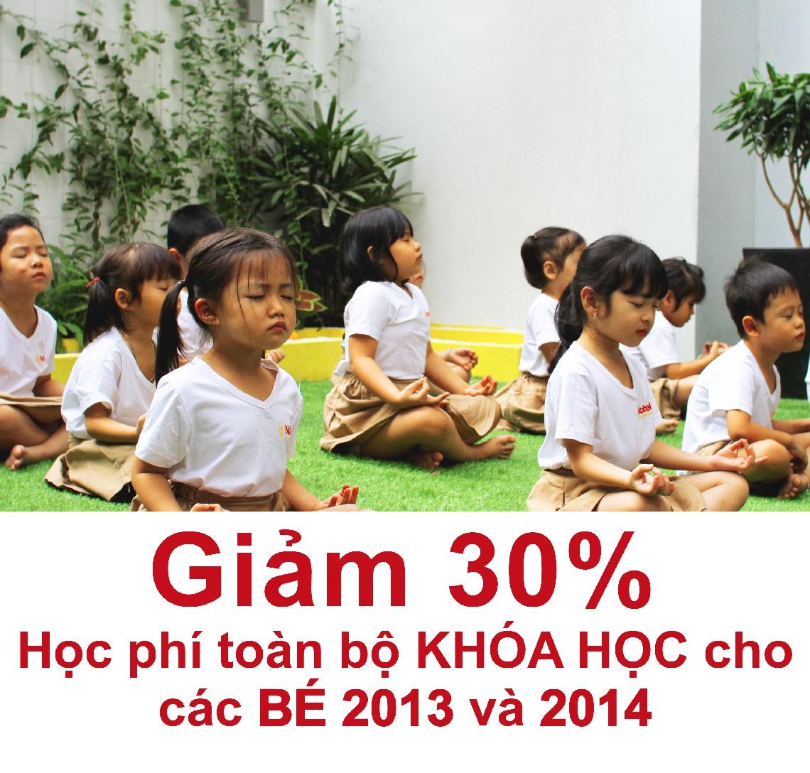 ƯU ĐÃI TUYỂN SINH ĐẶC BIỆT CHO CÁC BÉ SINH NĂM 2013 - 2014